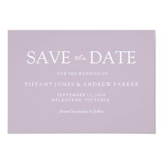 Enkla moderna smutsar ner rodna bröllop spara 8,9 x 12,7 cm inbjudningskort