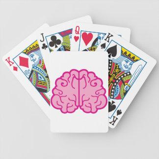 enkla rosa hjärnor spelkort