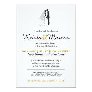 Simple Silhouettes Wedding Invitation