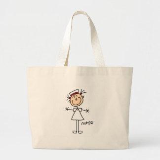 Enkla stick figursjuksköterskaT-tröja och gåvor Jumbo Tygkasse
