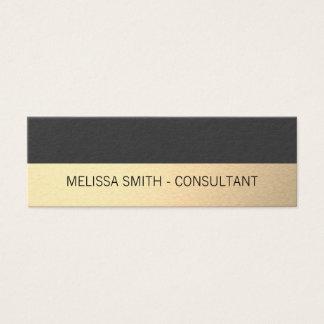Enkla yrkesmässiga guld- Luxgrått Litet Visitkort