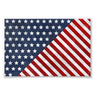 enorm amerikan för randar för USA flaggagrungestjä Fotokonst