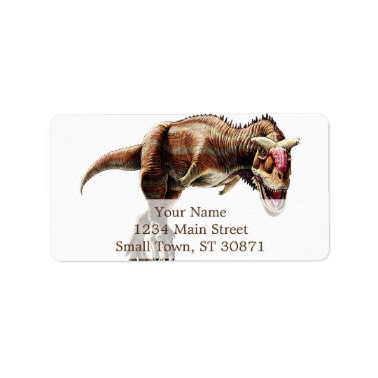 Enorm Carnivorous Dinosaur för Carnotaurusgåva Adressetikett