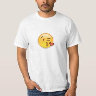 Enorm Emoji kyssande T-tröja Tshirts