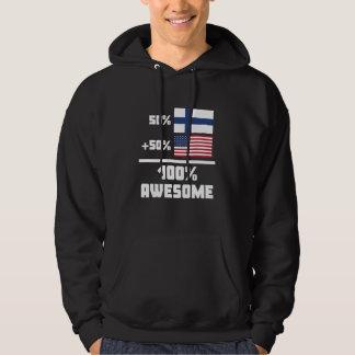 Enorm finlandssvensk amerikan tröja med luva