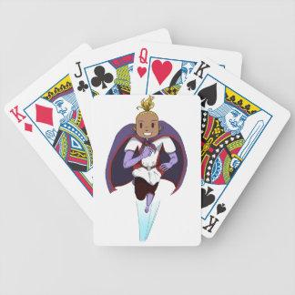 Enorm flicka spelkort