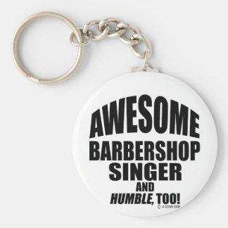 Enorm frisersalongsångare! rund nyckelring
