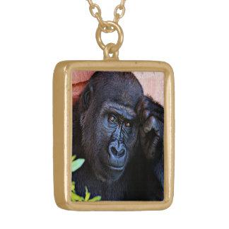 enorm gorilla 1215P Guldpläterat Halsband