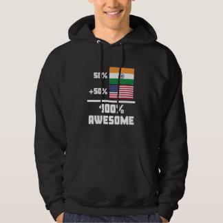 Enorm indisk amerikan sweatshirt med luva