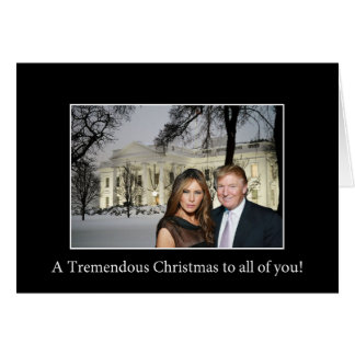Enorm jul från Donald och Melania Hälsningskort