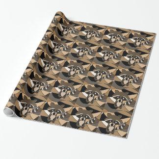 Enorm Raccoonkonstabstrakt Presentpapper