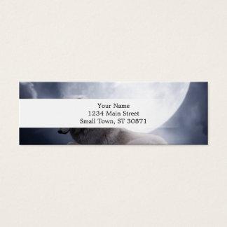 Enorm varg- och månevitvarg litet visitkort