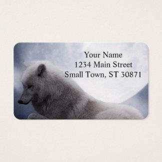 Enorm varg- och månevitvarg visitkort