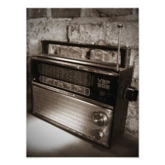 Enorm vintage radiosände trycket fototryck