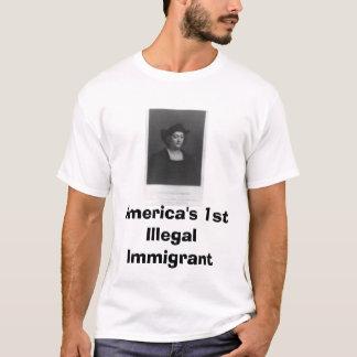 enorma columbus, Amerika 1st illegal invandrare Tee Shirt