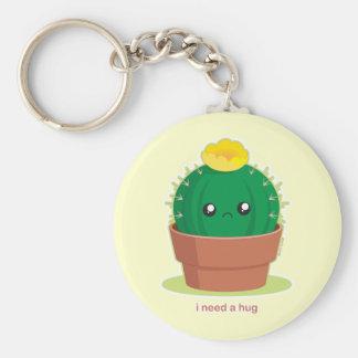Ensam kaktus rund nyckelring
