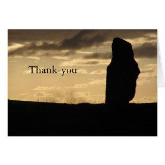 Ensam på solnedgången Tacka-du kort