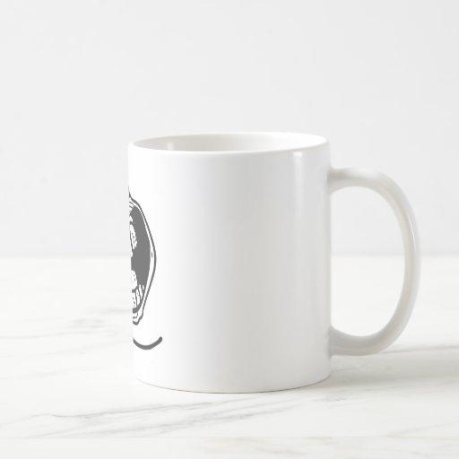 ensamt ansikte för för evigt kaffe mugg