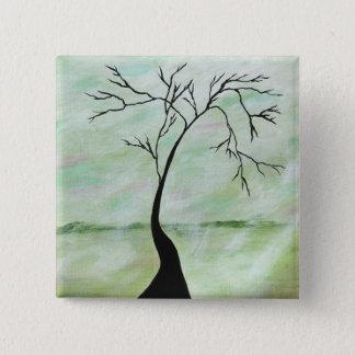 Ensamt väntade jag abstrakt landskap det konst standard kanpp fyrkantig 5.1 cm