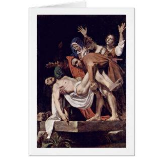 Entombment av Michelangelo Merisi Da Caravaggio Hälsningskort
