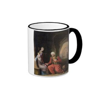 Entreatyen, 1822 (olja på kanfas) kaffe koppar