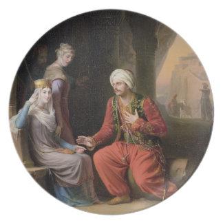 Entreatyen, 1822 (olja på kanfas) tallrik