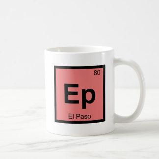 Ep - Symbol för bord för El Paso Texas kemi Kaffemugg