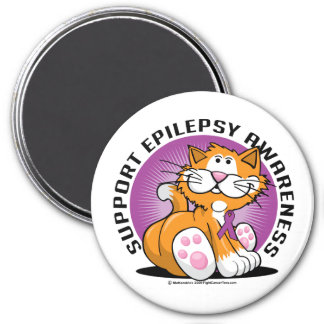Epilepsikatt Magnet Rund 7.6 Cm