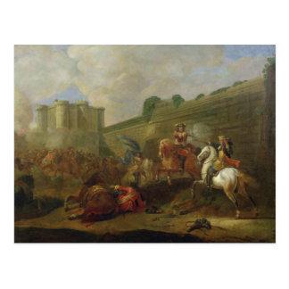 Episod av Fronde på Faubourgen Sanktt-Antoine Vykort