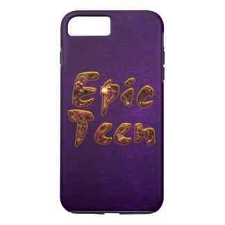 Epos tonåring med purpurfärgad bakgrund