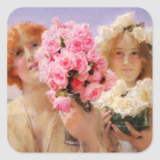 Erbjudande klistermärkear för Lawrence Alma Tadema Fyrkantigt Klistermärke