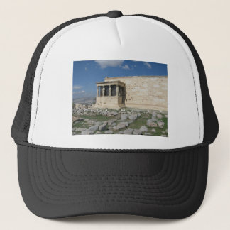 Erecthionen är delen av forntida grekisk Acropolis Truckerkeps