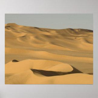 Erg Awbari, Sahara öken, Fezzan, Libya. Poster