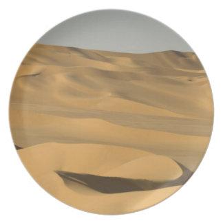 Erg Awbari, Sahara öken, Fezzan, Libya. Tallrik