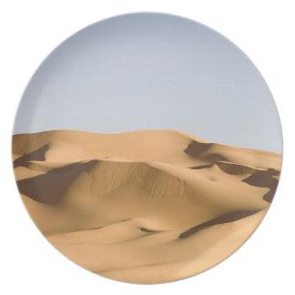 Erg Awbari, Sahara öken, Fezzan, Libyen. 2 Tallrikar