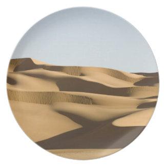 Erg Awbari, Sahara öken, Fezzan, Libyen. 3 Tallrik