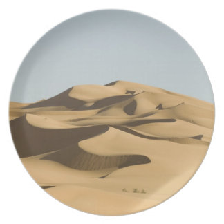Erg Awbari, Sahara öken, Fezzan, Libyen. 4 Fest Tallrikar