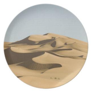Erg Awbari, Sahara öken, Fezzan, Libyen. 4 Tallrik