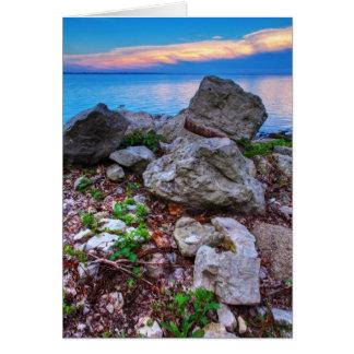 Erie solnedgång hälsningskort