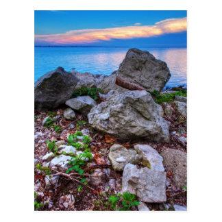 Erie solnedgång vykort