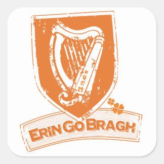 Erin går Bragh (harpaorangen) Fyrkantigt Klistermärke