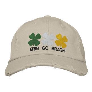 Erin går den Bragh broderade hatten Broderad Keps