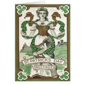 Erin går kortet för den Bragh St Patrick Hälsningskort
