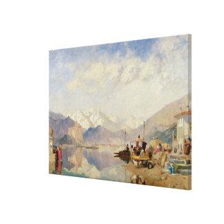 Erinringar av Lagoen Maggiore, marknadsför dag på Canvastryck
