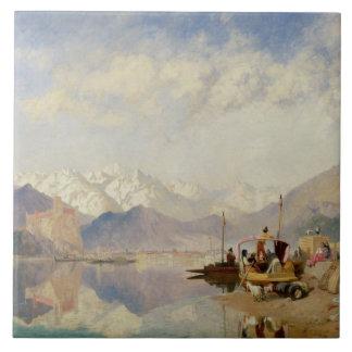 Erinringar av Lagoen Maggiore, marknadsför dag på Kakelplatta
