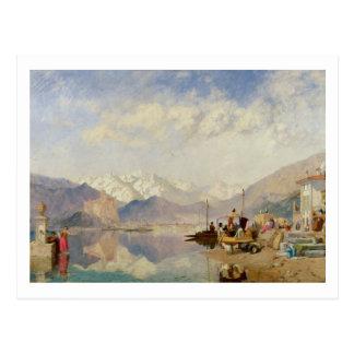 Erinringar av Lagoen Maggiore, marknadsför dag på Vykort