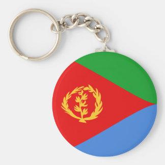 Eritrea Fisheye flagga Keychain Rund Nyckelring