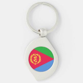 Eritrea flagga swirl silverfärgad nyckelring