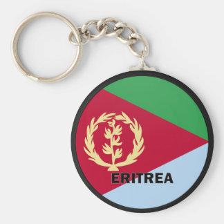 Eritrea Roundel kvalitets- flagga Rund Nyckelring
