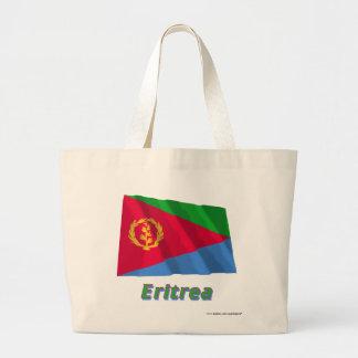 Eritrea som vinkar flagga med namn tygkasse
